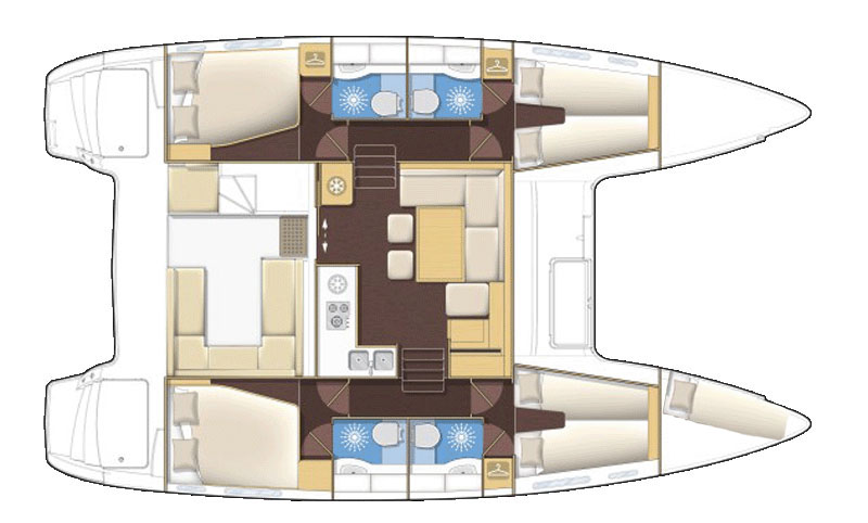 Lagoon 400 S2 - Yacht Charter Croatia - layout