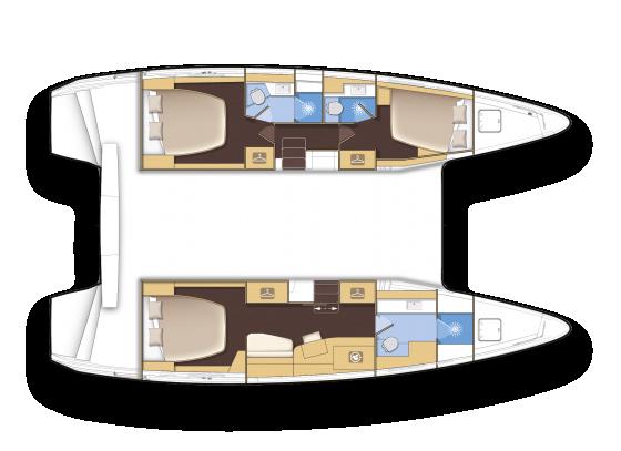 Lagoon 42 - Yacht Charter Croatia - layout