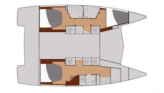 Lucia 40 Maestro 3 - Yacht Charter Croatia - layout