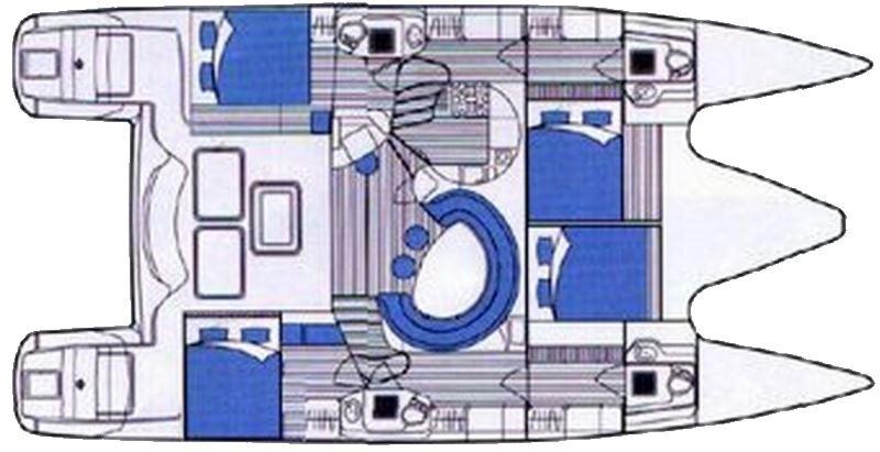 Privilege 465 - Yacht Charter Croatia - layout - pantarhei
