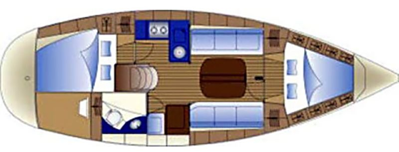 Bavaria Cruiser 32 - Yacht Charter Croatia - layout - lucky point