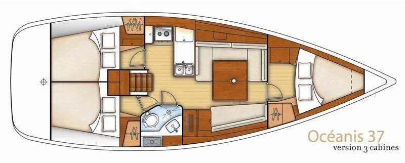 Oceanis 37 - Yacht Charter Croatia - layout