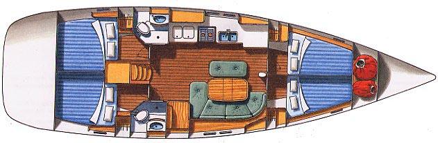Oceanis 423 - Yacht Charter Croatia - layout